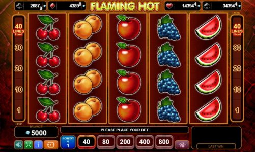 Hrací online slot Flaming Hot