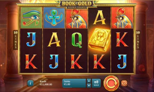 Hrací online slot Book of Gold: Double Chance