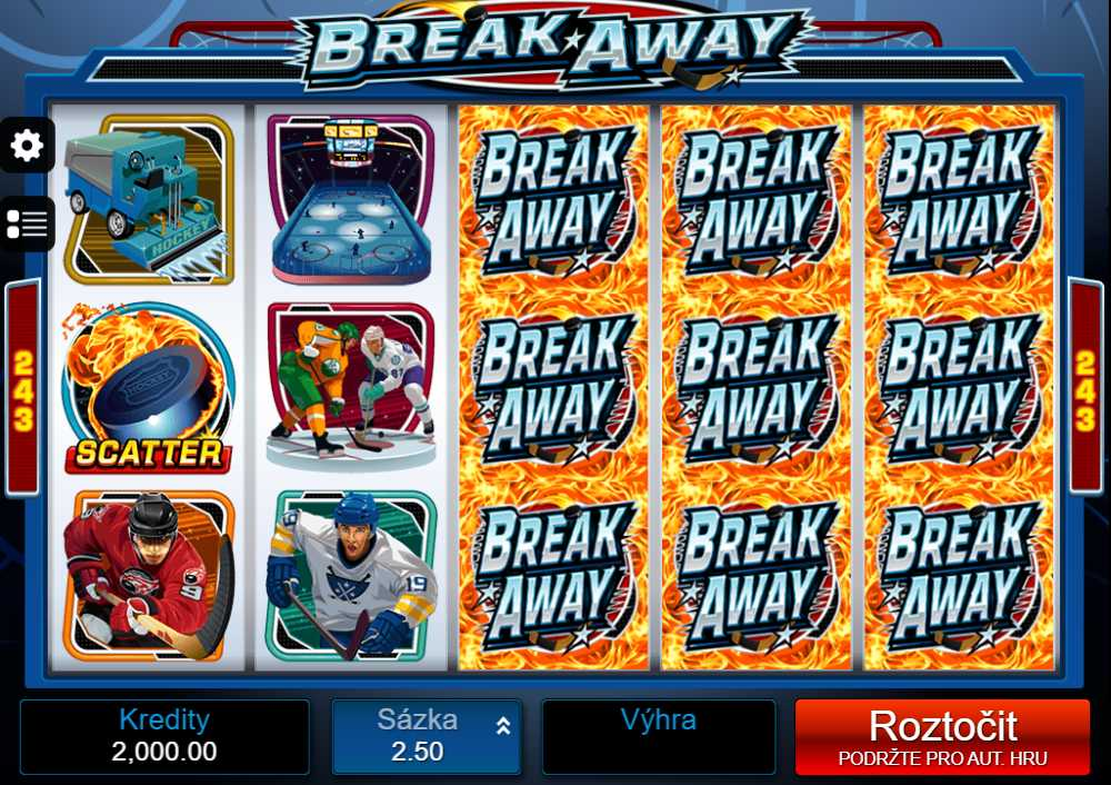 Casino výherní automat Break Away
