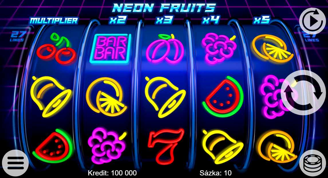 Online automat Neon Fruits