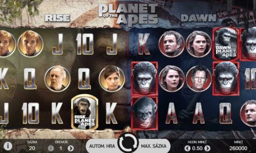 Herní automat Planet of the Apes